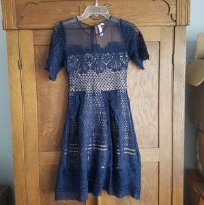 Navy blue dress - worn once!